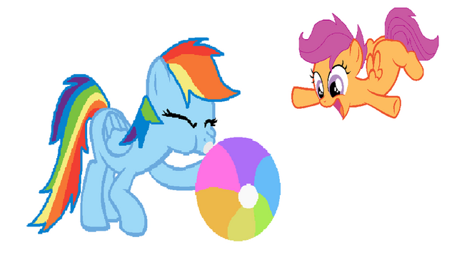 File:FANMADE Rainbow Dash inflating beach ball.png
