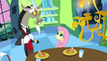 Fluttershy looks worried at Discord S03E10.png