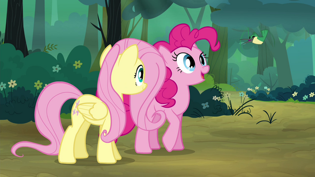 """File:Pinkie Pie """"What's he saying?"""" S4E18.png"""