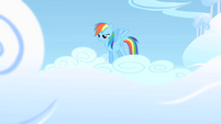 Rainbow Dash bracing herself for a rehearsal S1E16
