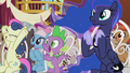 Spike and Luna cheer for Cranky and Matilda S5E9.png