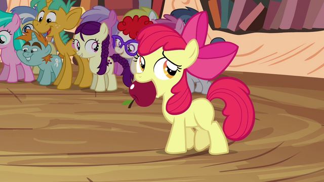 File:Apple Bloom with apple in her mouth S4E15.png
