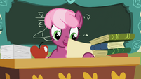 Cheerilee looking at paper S2E12