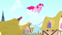 Pinkie Pie on the rooftops S4E12