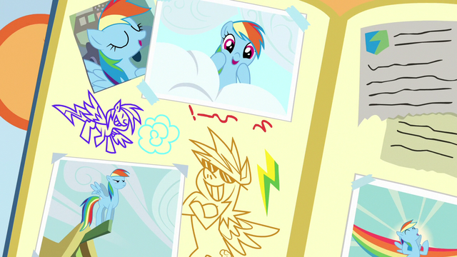 File:Rainbow Dash drawings in Scootaloo's scrapbook S7E7.png