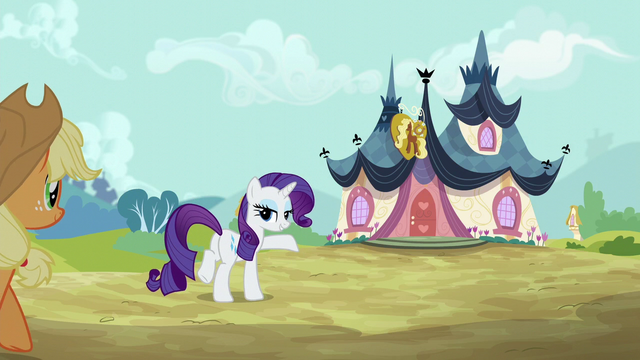 File:Rarity leads Applejack to the spa S6E10.png