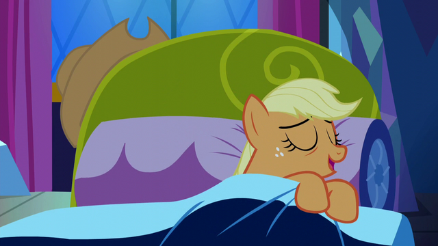 "File:Applejack ""shouldn't be too hard to fall asleep"" S5E13.png"