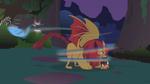 Manticore smacks Rainbow Dash S1E02