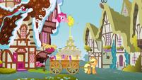 Pinkie Pie giving honey to Applejack 1 S3E8