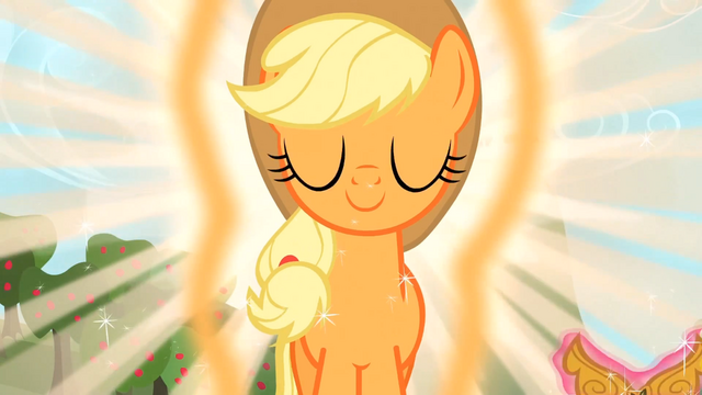 File:Applejack Glowing S3E13.png