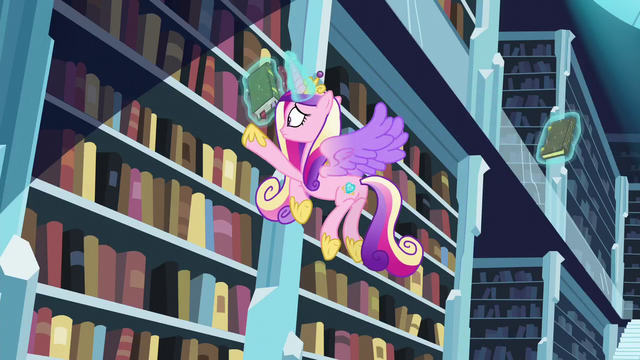 File:Cadance tries to find the book S6E2.png