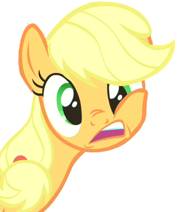 File:FANMADE Applejack Transparent Weird Expression.png