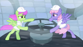 Merry May and Rainbowshine tries to control the machine S5E5.png