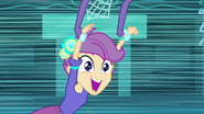 Scootaloo flying around the gym EG