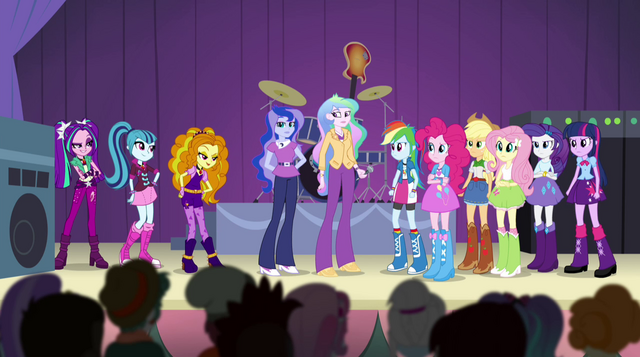 File:Dazzlings join the Rainbooms and principals on stage EG2.png