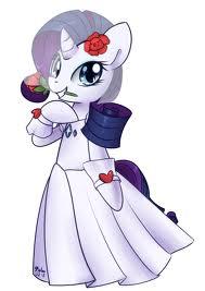 File:FANMADE Rarity wearing a wedding dress.jpg