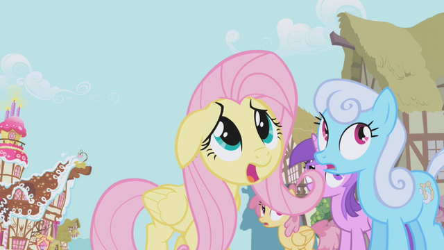 File:Fluttershy frightened by Gilda S1E05.png