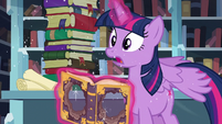 Wind blowing through Twilight's view S6E2