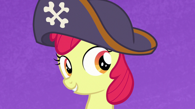 File:Apple Bloom wearing a pirate hat S7E8.png
