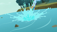 Rainbow going out of the river S3E6