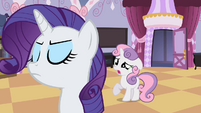 Sweetie Belle opens mouth S2E05