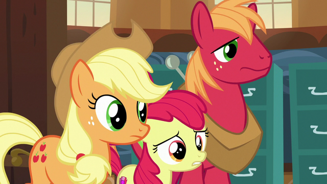 File:Apple siblings enter Ponyville Town Hall S7E13.png