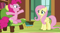 "Pinkie Pie ""shaped like a gigantic bundt cake"" S7E5"