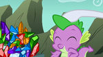 Rarity patting Spike on his head S01E19
