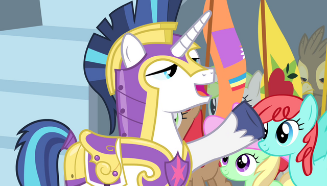 "File:Shining Armor ""two minutes!"" S4E24.png"