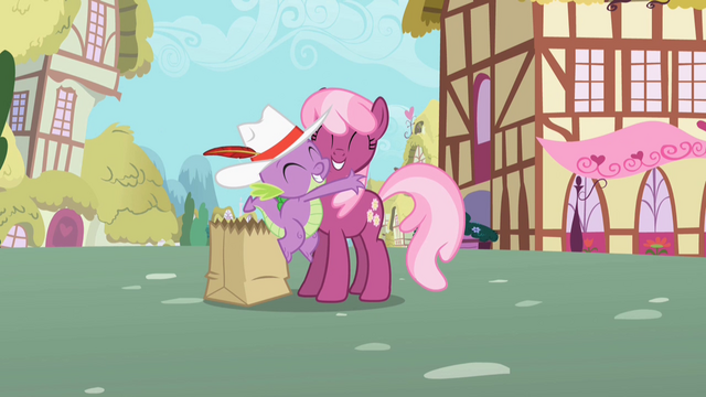 File:Spike hugging Cheerilee S2E10.png