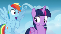 Twilight Sparkle unsure of how to react S6E24
