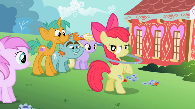 "File:Apple Bloom ""You seein' dis?"" S2E6.png"