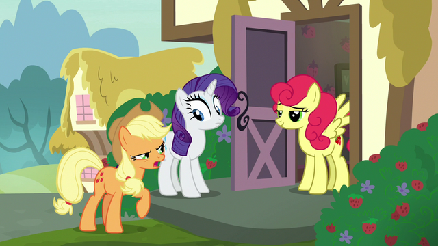 """File:Applejack """"apples are better than strawberries!"""" S7E9.png"""