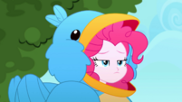 Pinkie disappointed in her bird costume SS10