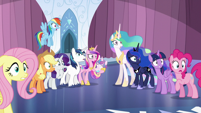 File:Ponies staring at the shattered Crystal Heart S6E1.png