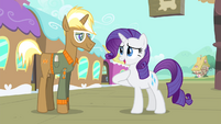 Rarity introduces herself to Trenderhoof S4E13