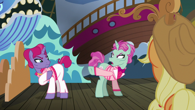 File:Trainer ponies angrily point at each other S6E20.png