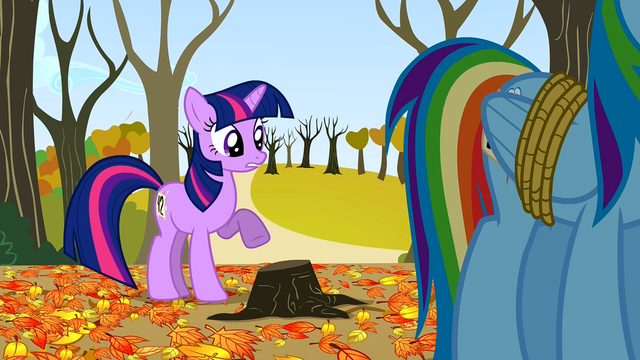 File:Twilight pointing at the stump S01E13.png