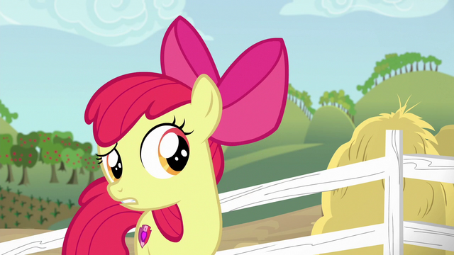 """File:Apple Bloom """"thinking of somethin' else"""" S6E14.png"""