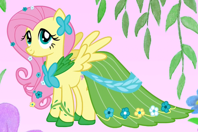 File:Fluttershy in her gala dress crop S1E14.png