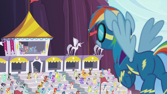 File:Rainbow Dash hears her parents' loud cheering S7E7.png