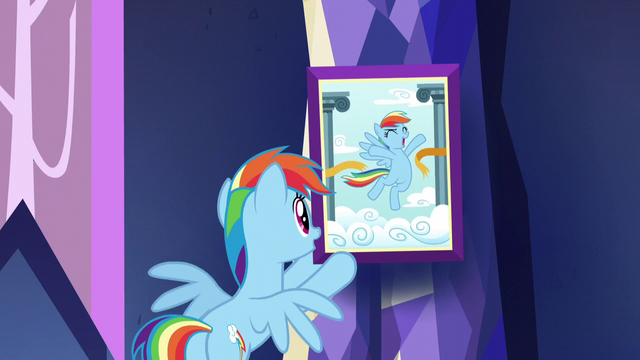 File:Rainbow hangs photo of herself S5E3.png