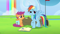 Rainbow looking around the academy grounds S7E7.png