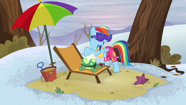 File:Rainbow spreading sunscreen on Tank's shell S5E5.png