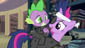 Spike riding Twilight's back S2E20.png