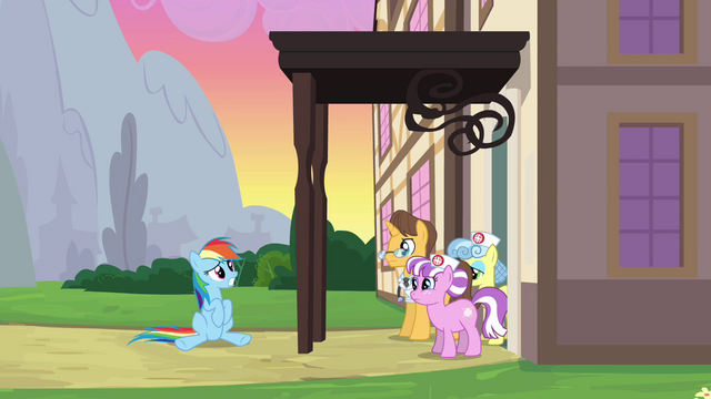 File:Rainbow Dash being discharged again 2 S2E16.png