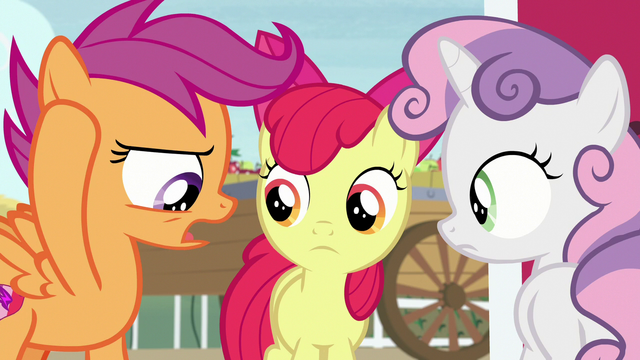 """File:Scootaloo """"we can't talk about costumes"""" S7E8.png"""