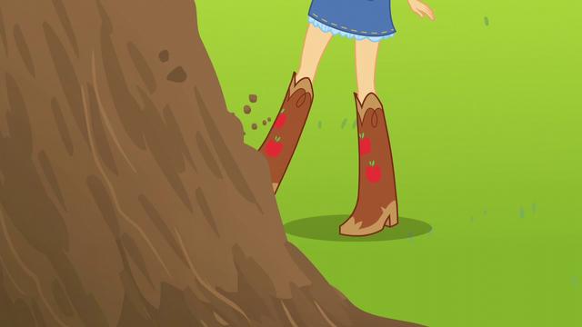 File:Applejack kicking a dirt mound EG3.png