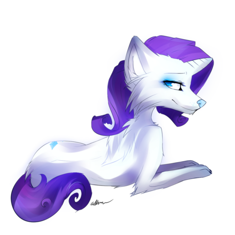 File:FANMADE Rarity-wolf.png