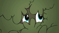 Fluttershy peeking out from bushes S2E01
